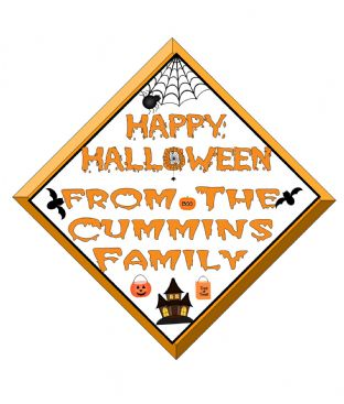 Personalised Halloween Window Sign Design 1